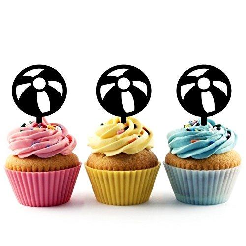 Innovedesire Circus Ball Kuchenaufsätze Hochzeit Geburtsta Acryl Dekor Cupcake Kuchen Topper Stand für Kuchen Party Dekoration 10 Stück