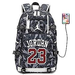 Lorh's store Basketballspieler Star Michael Jordan Multifunktionsrucksack Reisestudent Rucksack Fans Bookbag für Männer Frauen (Stil 9)