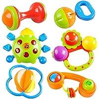 Peradix Sonajeros Juguetes para Bebé Primeros Cascabel Sacudiendo Conjunto de Regalo con Música BPA Libre Juguetes de Cangrejo para Recién Nacidos y Niños Niñas
