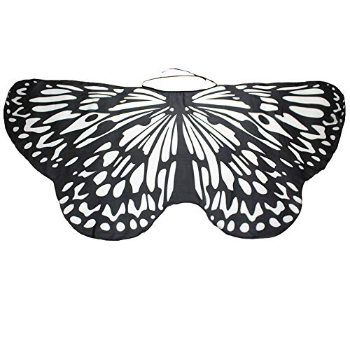 Yvelands Gedruckt Weiche Gewebe Schmetterlings Flügel Butterfly Cape Schal Tanzzubehör Halloween Cosplay Karneval Zubehör Weihnachten Cosplay Kostüm Zusatz(O,147 * 68CM)