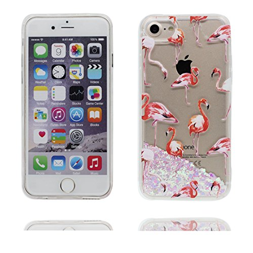 "iPhone 6s Hülle, Skin harte freie Handyhülle iPhone 6 6S, Pferd Horse- Glitter Bling Transparent Hard Clear funkelt Shinny fließend, iPhone 6 Case 4.7"", Apple iPhone 6S Cover 4.7"", Schock-bestän # 4"