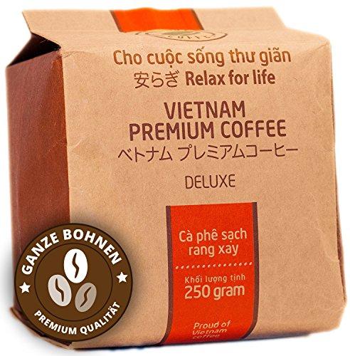 VietBeans Hello5 Deluxe - Hochwertige Kaffeebohnen aus Buôn Ma Thuột Vietnam - Edles Arabica Aroma mit kräftiger Note - hoher Koffeingehalt - 250g