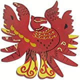 """Plusvalue Feng Shui Wooden Red Phoenix Bird Wall Hanging Size 4"""" for Fame, Reputation & Recognition"""