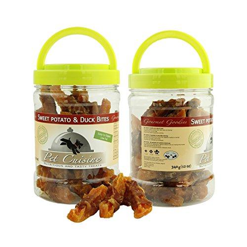 Pet Cuisine Hundeleckerli Hundesnacks Kausnacks, Ente & Süßkartoffel Twist, 340g x2 Dosen(Gesamt 680g)
