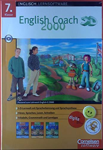 Englisch Lernsoftware. English Coach 2000. 7. Klasse. 3-D-Lernwelt mit Spracherkennung und...