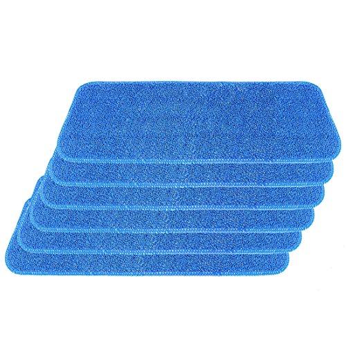 Mikrofaser Reinigungstücher, Cuitan Wischtuch Wischbezug Waschbar für Sprühwischer Reveal Wischmopps 6 Stück - Blau
