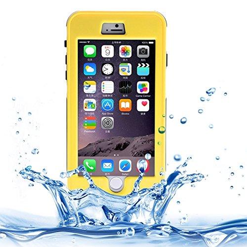Protégez votre iPhone, Link Dream pour iPhone 6 Plus et 6sPlus imperméable à l'étui avec lanière Pour téléphone portable d'Iphone. ( Couleur : Blanc ) Jaune