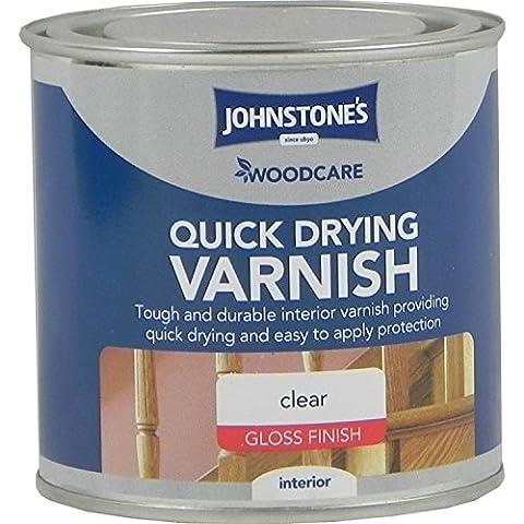 Johnstones Woodcare–Vernis intérieur, séchage rapide, incolore brillant, 250ml