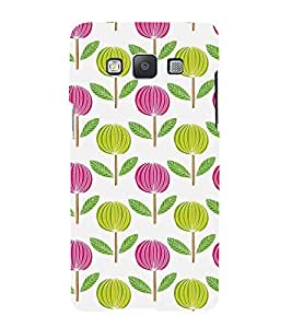ANIMATED DUAL COLOURS FLOWERS PATTERN 3D Hard Polycarbonate Designer Back Case Cover for Samsung Galaxy A7 (2015 Edition) :: Samsung Galaxy A7 A700F (2015)