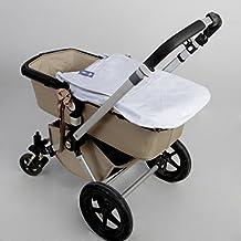 Saco Capazo + Funda Ajustable Danielstore Universal .Serie Acolchado boton .Carrito Bebé Color celeste