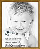 ArtToFrames 53,3x 66cm Gold Folie auf Kiefer Holz Bilderrahmen, 2wom0066–81375-ygld-21X 26