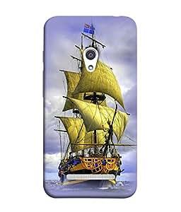 FUSON Designer Back Case Cover for Asus Zenfone 5 A501CG (Big Ship In Ocean Vintage Tall High)