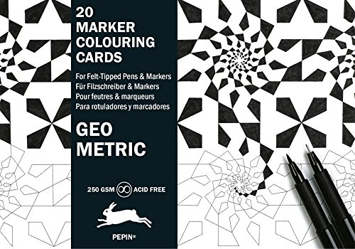 Geometric: Marker Colouring Cards Book por Pepin Van Roojen