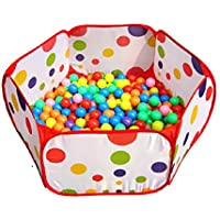 Amison Lindo Pop Up Hexagon lunares niños pelota Play piscina tienda de campaña de transporte Tote juguete sin bolas