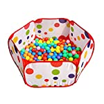 Amison Cute Pop up Hexagon Polka Dot Children Ball Play Pool Tent Carry Tote ...