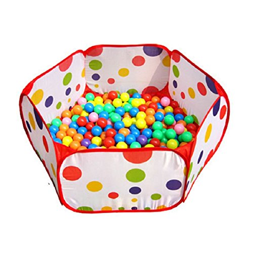 Amison Cute Pop up Hexagon Polka Dot Children Ball Play Pool Tent Carry Tote Toy Without Balls 51X3dfbzDXL
