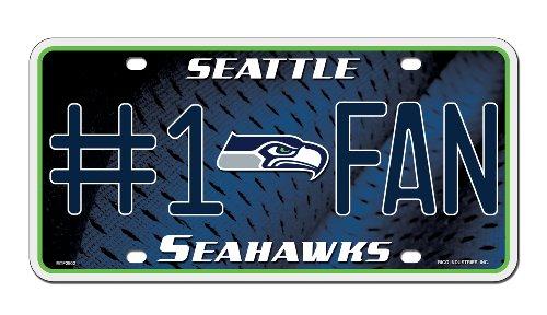 Unbekannt NFL # 1FAN Metall Auto Tag, Herren unisex damen, Seattle Seahawks