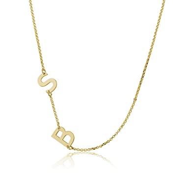 Sideways gold plated initial necklace initial pendant sideways gold plated initial necklace initial pendant personalized necklace custom necklace letter aloadofball Gallery