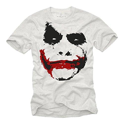 Maglietta uomo bianco - T-shirt Joker Batman L