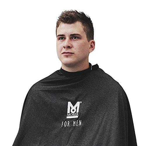 Friseurumhang für Männer mit Nadelstreifen, extra leicht, Barber Umhang mit Hakenverschluss
