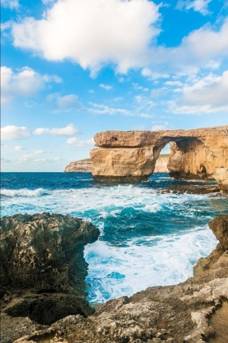 azure-window-on-gozo-island-malta-journal-150-page-lined-notebook-diary