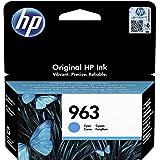 HP 963 3JA23AE, Cian, Cartucho de Tinta Original, compatible con impresoras de inyección de tinta HP OfficeJet Pro Series 901
