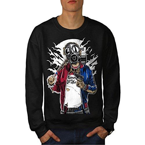 Straße Gewehr Krieg Gangster Herren M Sweatshirt | (Kostüm Gesellschaft Vancouver In)