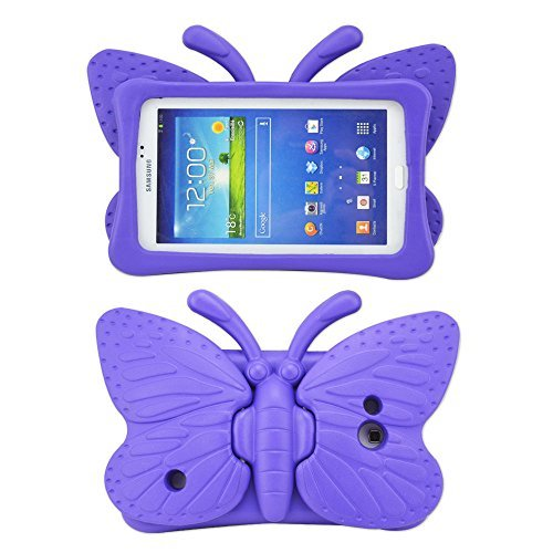 Galaxy Tab 4 7 Inch Kids Case, Tab 3 Lite Case for Kids, Nontoxic Kid Friendly Lightweight EVA Foam Shockproof Kid-proof Cover for Samsung Tablets, Tab 3 / Lite Tab 4 7