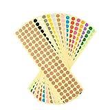 YeahiBaby Bunte Kreis Aufkleber Selbstklebender für Büro Geschäft 16 Stücke