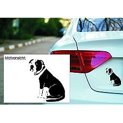 KFZ Aufkleber - 'American Pit Bull Terrier' Hunde, Dogs// Autoaufkleber Farben- und Größenwahl (Silber - 450 mm x 380 mm)