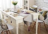 Tischdecke Moderne minimalistische-Läufers des Läufers des Tisch bestickt der Tabelle der Tabelle der Tabelle Läufer der Dachziegel Haus der Haus der Textilindustrie, 1