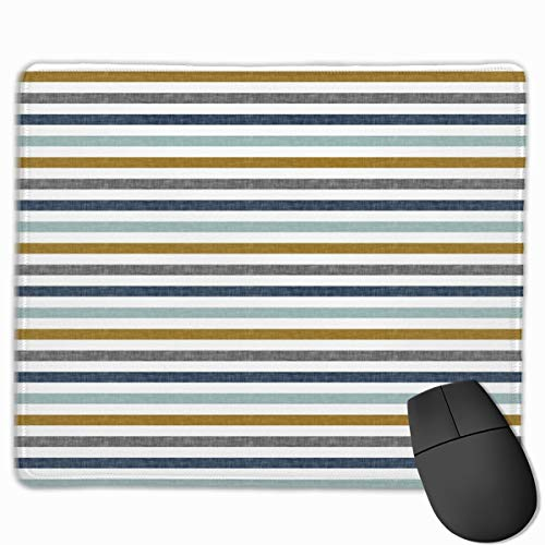 Multi Stripes with Gold_67545 Mouse pad Custom Gaming Mousepad Nonslip Rubber Backing 9.8