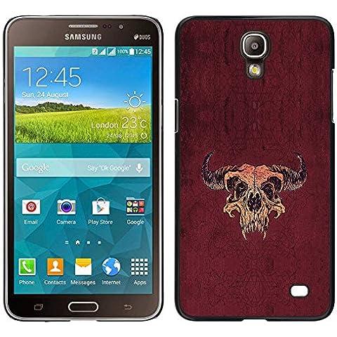 MDMG %2F-Cover rigida a scatto, con protezione laterale per Taurus Buffalo Skull Western _Samsung Galaxy Mega, 2 pezzi - Buffalo Scatti