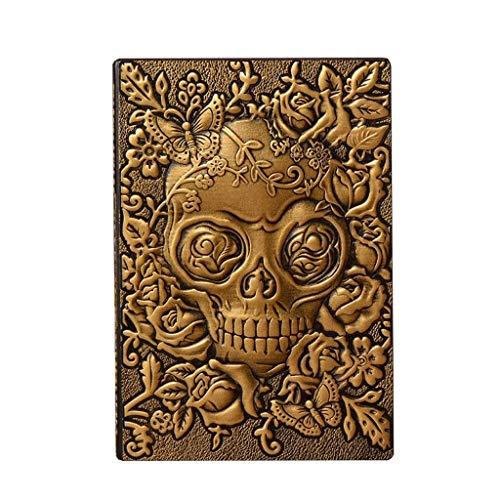 Halloween-Tagebücher Notebook Reisende Arbeit Studie Hard Cover Qualität Papier Schreiben Notizblöcke Journal für Geschenke 8.7x5.7inch Papierprodukte (Color : Gold) ()