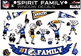NFL San Diego Chargers Spirit Family Decal Sheet, 8.5 x 11-inches