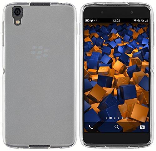 mumbi Schutzhülle für BlackBerry DTEK50 Hülle transparent weiss