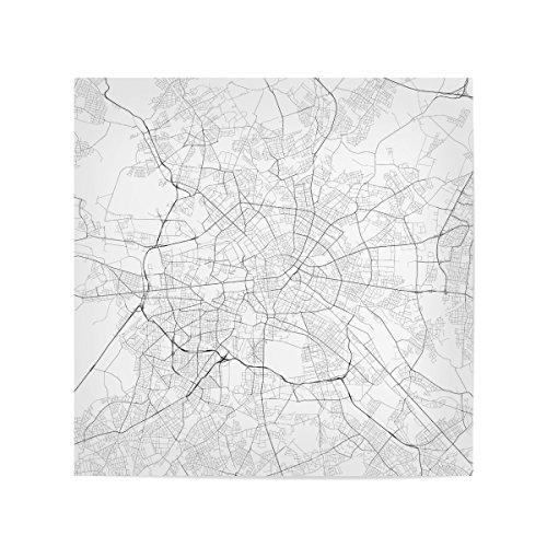 artboxONE Poster Städte Berlin White map Traffic hochwertiger Design Kunstdruck – Bild Städte von Urbanmap