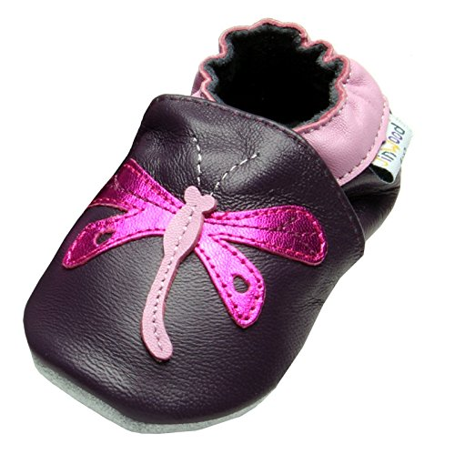 Jinwood designed by amsomo Dragonfly Purple Mini Shoes, EU 31/32