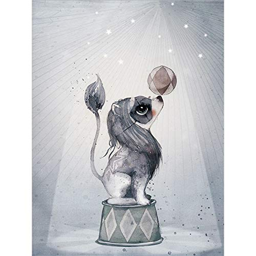 LiMengQi Wohnkultur Nordic Leinwand Wandmalerei Kunst Kaninchen Mädchen Animal Print Abstrakte Aquarell Junge Schlafzimmer Wohnzimmer Poster Bild (Kein Rahmen) A5 40x50 cm