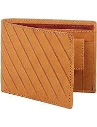 LANDER Men's Tan Stylish 100% Genuine Leather Wallet (TAN)