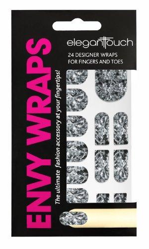 Elegant Touch geraffter Aluminium Nail Envy Wraps (Wrap Geraffte)