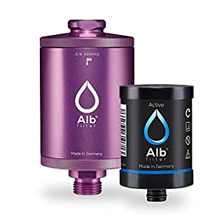 Alb Filter® Active Trinkwasser-Filter reduziert Schadstoffe, Schwermetalle, Mikro-Plastik. Made in Germany Magenta
