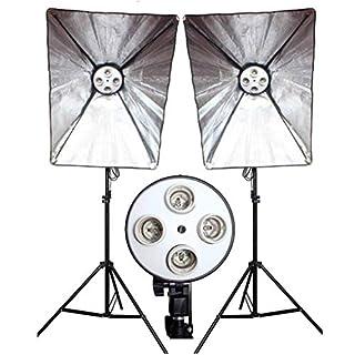 ZAOFAN Single Softbox Continuous Studio Light | 4 Bulb Lamp Holder | Fluorescent Lighting - 70x50cm Rectangle Softbox