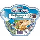 Naturnes assiette riz champignon cabillaud 230g dès 12 mois - ( Prix Unitaire ) - Envoi Rapide Et Soignée