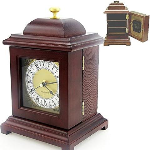 Péndulo Con Compartimiento Trasero Secreto-Caja para Joyas, Diseño de Madera, 23 X 16 X 13 cm
