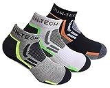 Planet Socks 6 paia calze da running alta qualità adatti per corsa, ciclismo, palestra,tennis tempo libero (43-46)