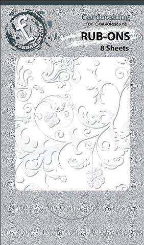 Flourish/White Fundamentals Rub-Ons 2.5