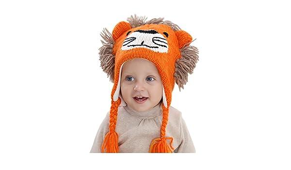 Superora Bonnet Chapeau Bebe Garçon Bebe Fille Animaux Mignon Laine Tricoté  Protection Oreille Hiver pour 1-6 Ans  Amazon.fr  Sports et Loisirs 72bc4d5b53c