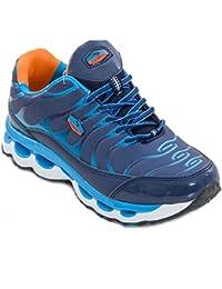 Toocool - Scarpe donna sneakers da ginnastica fitness sport palestra sportive nuove 7127[7152 Blu/Verde,40]