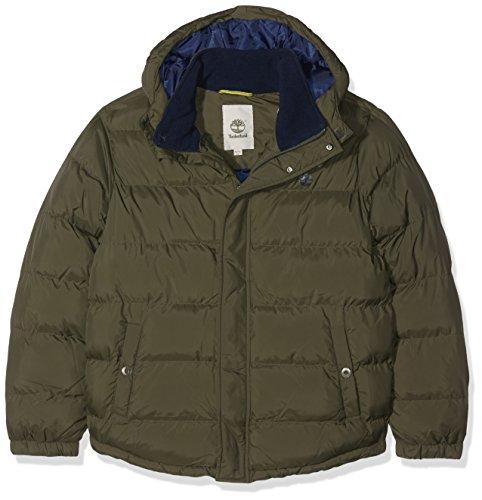 Timberland Jungen Jacke Doudoune, Grün (Dunkles Khaki), 10 Jahre (Herstellergröße: 10A) Preisvergleich